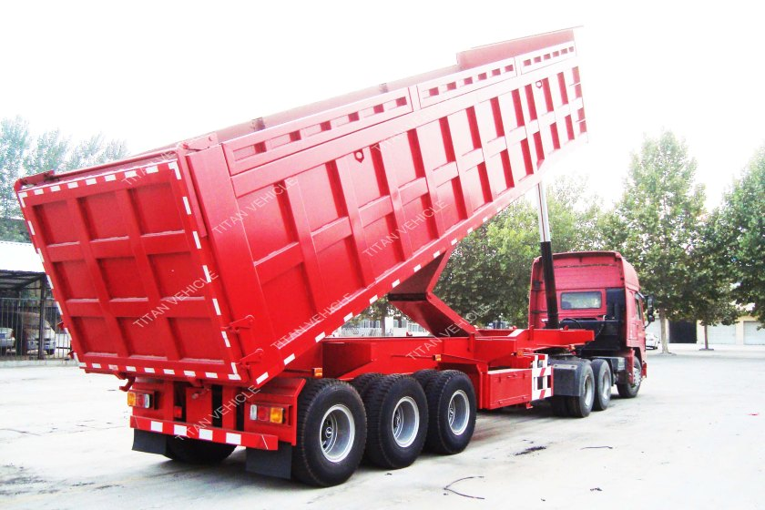 Square tipping trailer